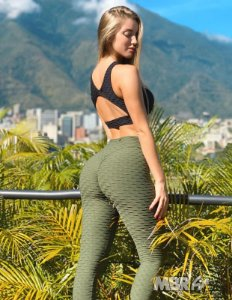 Legging verde musgo brocado