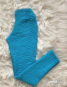 Legging brocado azul turquesa