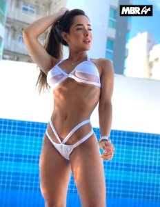 Biquini luxury Branco transparencias