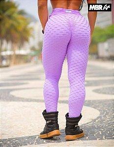 Legging brocado lilás