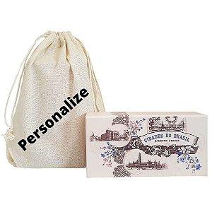 Kit de Sabonetes Cidades do Brasil e Sacolinha personalizada