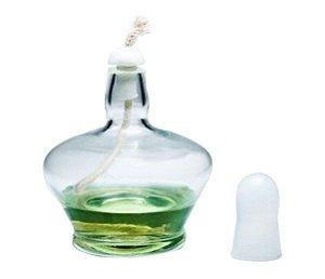 Lamparina à álcool com tampa de vidro