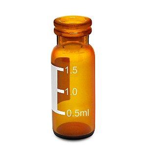 Vial em vidro borossilicato, Âmbar, 11,6x32 (100 unidades)