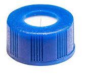Tampa plástica de rosca, cor azul, rosca de 9mm (100 unidades)