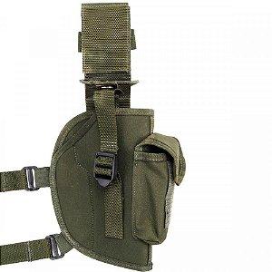Coldre De Pistola Com Porta Carregador Simples Atack - Verde