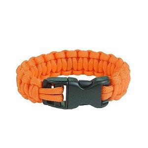 Pulseira Bracelete de Sobrevivência Survival - Laranja