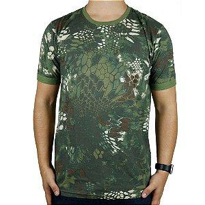 Camiseta Masculina Soldier Bélica Camuflada Mandrake