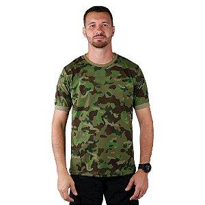Camiseta Masculina Soldier Bélica Camuflada Tropic