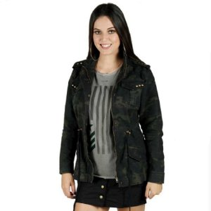 Jaqueta Feminina Alícia Treme Terra - Camuflada Multicam Black