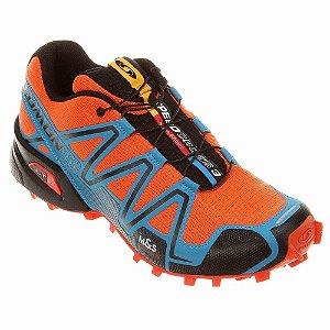 Tênis Speedcross 3 Masculino Salomon - Laranja e Azul