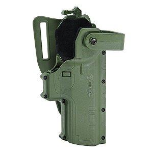 Coldre Hammer I Pro Em Polímero Bélica Canhoto - Verde