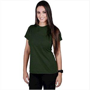 Camiseta Feminina Soldier Bélica - Verde Escuro