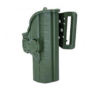 Coldre Striker I Em Polímero Passador Bélica Canhoto - Verde