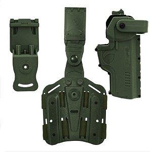 Combo Safe Hammer Em Polímero Bélica Destro - Verde (Nova Fita)