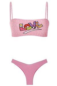 Bikini Pior que Possa Imaginar Love Rosa