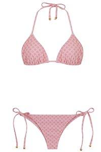 Bikini Saudades da Gente Poá Rosa