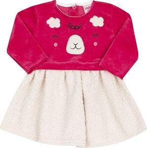 Vestido Ursinho Vermelho - Serelepe Kids