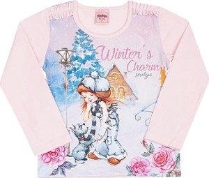 Blusa Avulsa Winter Rosa - Serelepe Kids
