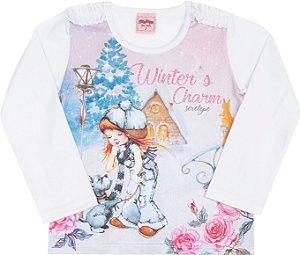 Blusa Avulsa Winter Branco - Serelepe Kids