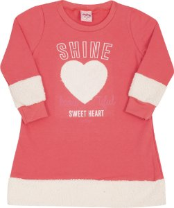 Vestido Coração Rosa - Serelepe Kids