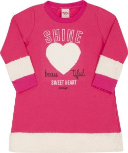 Vestido Coração Pink - Serelepe Kids