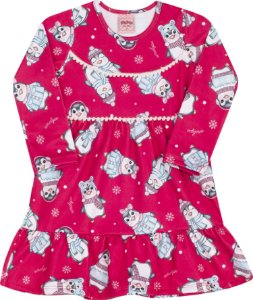 Vestido Pinguim Pink - Serelepe Kids