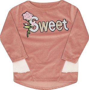 Blusão Sweet Rosê - Serelepe Kids