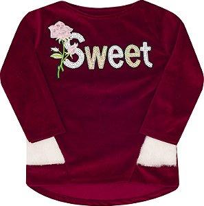 Blusão Sweet Bordo - Serelepe Kids