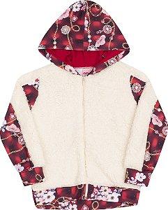 Conjunto Floral Vermelho - Serelepe Kids