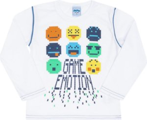 Camiseta Avulsa Game Edition Branco - Serelepe Kids