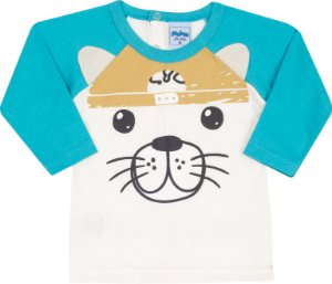 Blusa Avulsa Bichinho Off White - Serelepe Kids