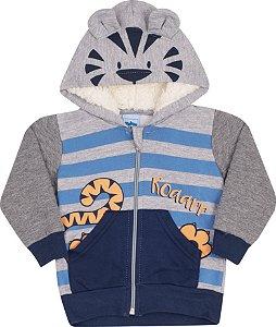 Conjunto com Capuz Tigre Mescla - Serelepe Kids