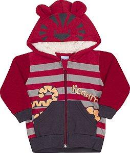 Conjunto com Capuz Tigre Vermelho - Serelepe Kids