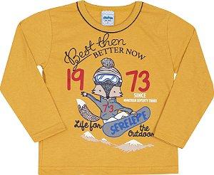 Camiseta Avulsa 1973 Caramelo - Serelepe Kids
