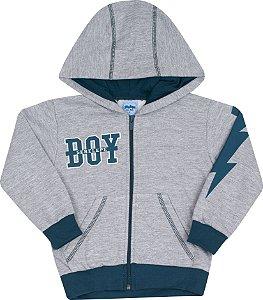 Conjunto Com Capuz Boy Mescla - Serelepe Kids