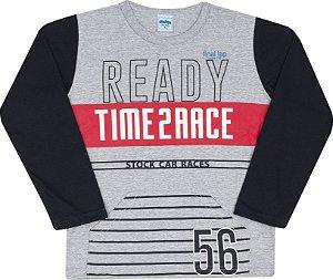Camisa Avulsa Time Race Mescla - Serelepe Kids
