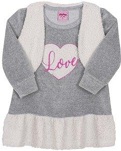 Vestido Love Mescla - Serelepe Kids