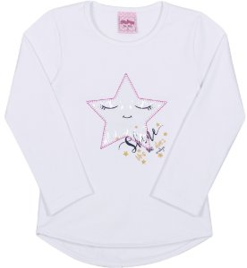 Blusa Avulsa Estrela Branca - Serelepe Kids