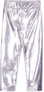 Calça em Cirrê Metalizado Prata - Serelepe Kids