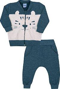 Conjunto Bebê Tigre Cobalto - Serelepe Kids