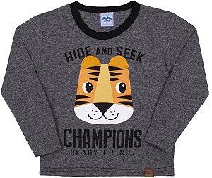 Camiseta Avsulsa Infantil Champions Mescla Escuro - Serelepe Kids