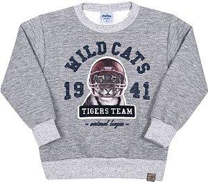 Blusão Infantil Tiger Team Mescla - Serelepe Kids