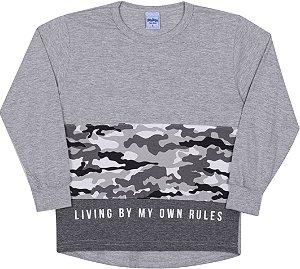 Camiseta Avulsa Infantil Rules Mescla - Serelepe Kids