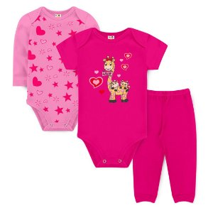 Kit Body Girafa Amor Pink - Sucrillá Basic