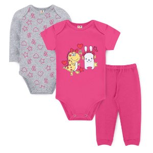 Kit Body Dinos Pink - Sucrillá Basic