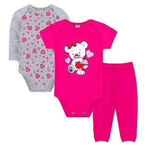 Kit Body Ursinho Pink - Sucrillá Basic