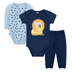 Kit Body Little Lion Marinho - Sucrillá Basic