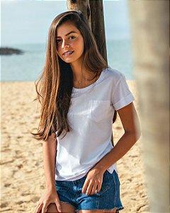 T-shirt Algodão Orgânico com Bolso Feminina - Organic Woman