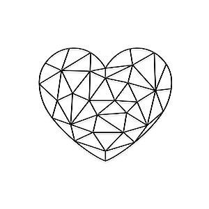 Decorativo Coração Geométrico