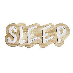 Lettering de parede Sleep